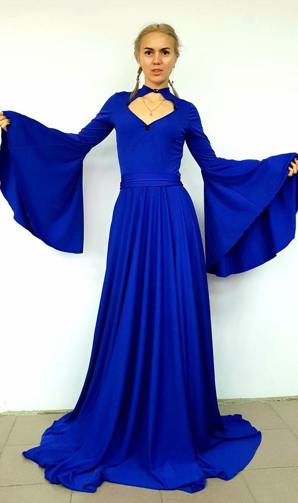 платье в пол, пошив