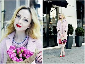 Fashion блогер Анжела Арутюнян о нашем розовом пальто | Ярмарка Мастеров - ручная работа, handmade