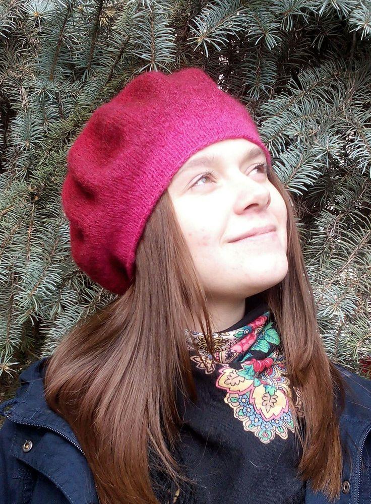 Вязано-валяные береты, фото № 6
