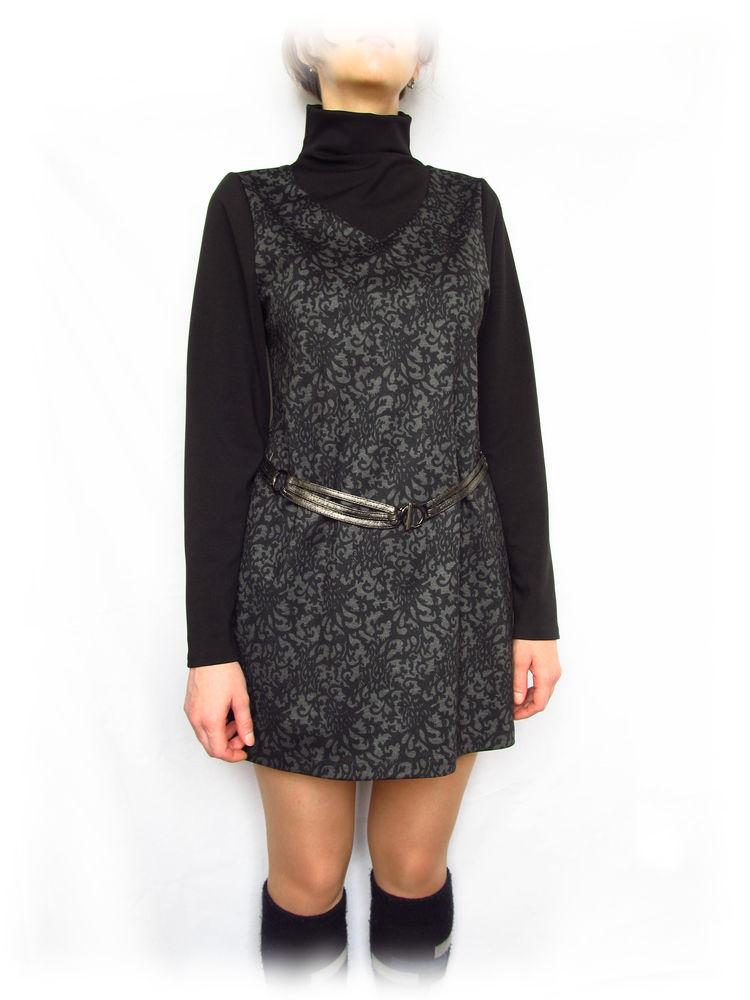 платье мини черное, платье туника