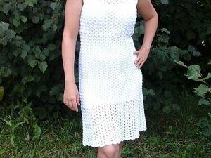 Скидка на платье белое из хлопка вязаное крючком. Ярмарка Мастеров - ручная работа, handmade.