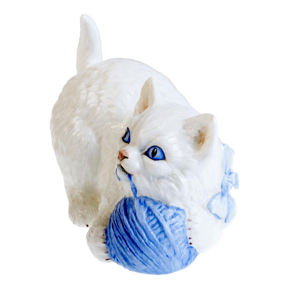 белый кот, английский фарфор