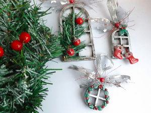 Новогодние подвески-украшение на ель «Московских окон негасимый свет». Ярмарка Мастеров - ручная работа, handmade.
