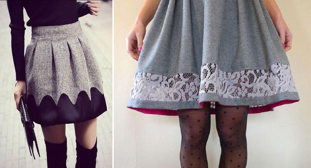 Как красиво удлинить платье кружевом