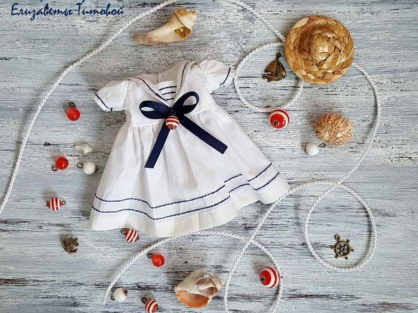 Шьем платье-матроску для куклы. Ярмарка Мастеров - ручная работа, handmade.
