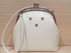 """Аукцион на белую сумочку """"Сердечко"""", присоединяйтесь!. Ярмарка Мастеров - ручная работа, handmade."""