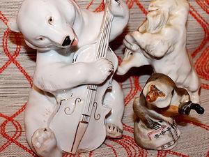 Квартет по басне Крылова. Фарфоровые статуэтки. ЛФЗ. Ярмарка Мастеров - ручная работа, handmade.