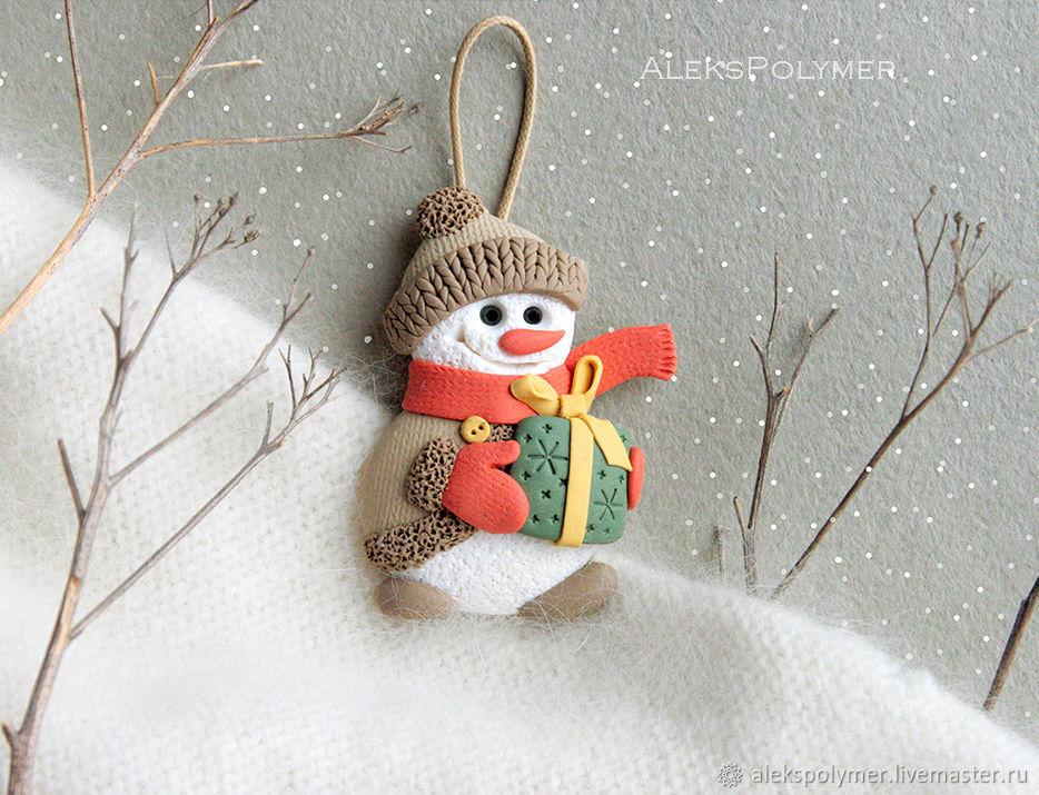 DIY Snowman of Polymer Clay, фото № 1