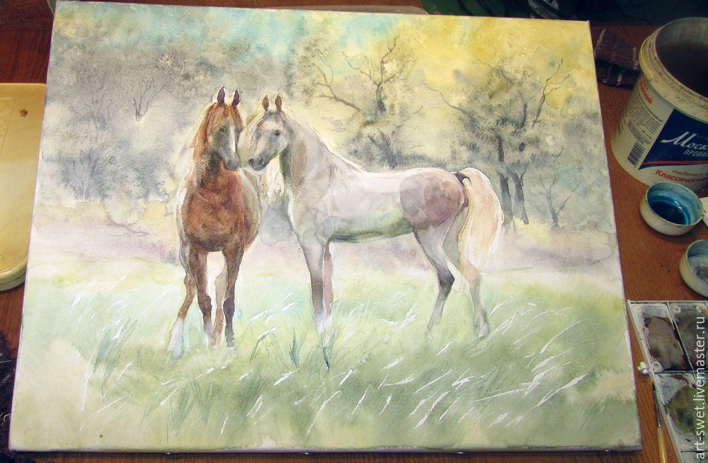 Как рисовать лошадок акварелью, фото № 10