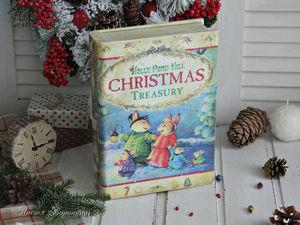 Книга-шкатулка Рождественские истории. Ярмарка Мастеров - ручная работа, handmade.