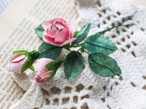 Создаем розы из ткани для скрапбукинга. Ярмарка Мастеров - ручная работа, handmade.