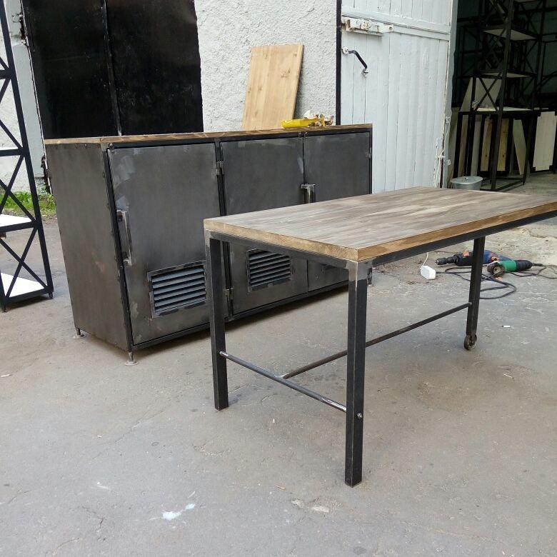 мебель из металла, мебель из стали, стол в стиле лофт, мебель на заказ, металлический комод, мебель лофт, metal furniture