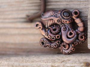 Розыгрыш от Мастерской Bioo-art. Подвеска Осьминог. | Ярмарка Мастеров - ручная работа, handmade