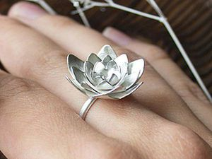 How to Make a Metalsmith Lotus Ring. Livemaster - handmade