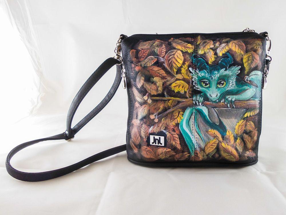 женская сумка, рюкзак с росписью