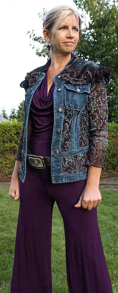 Многообразный декор джинсовых курток: 50 интересных вариантов, фото № 48