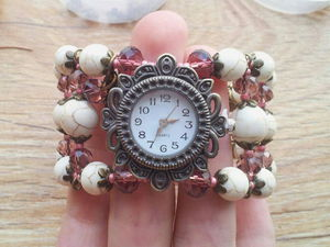 Мастер-класс по созданию часиков с широким браслетом на проволоке мемори. Ярмарка Мастеров - ручная работа, handmade.