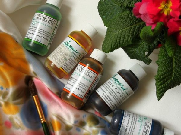 Краски для батика. Часть 2. Silk colors green label (Jacqard)