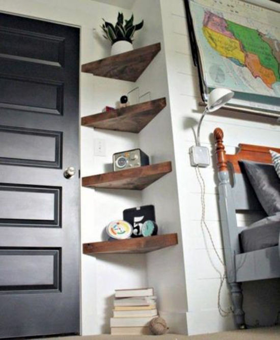Simple and Budget Ideas for Home: Open Shelves and Ways of Mounting, фото № 7