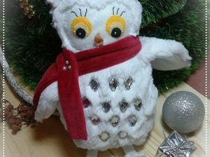 Шьём мягкую игрушку из меха «Совушка-Зима». Ярмарка Мастеров - ручная работа, handmade.