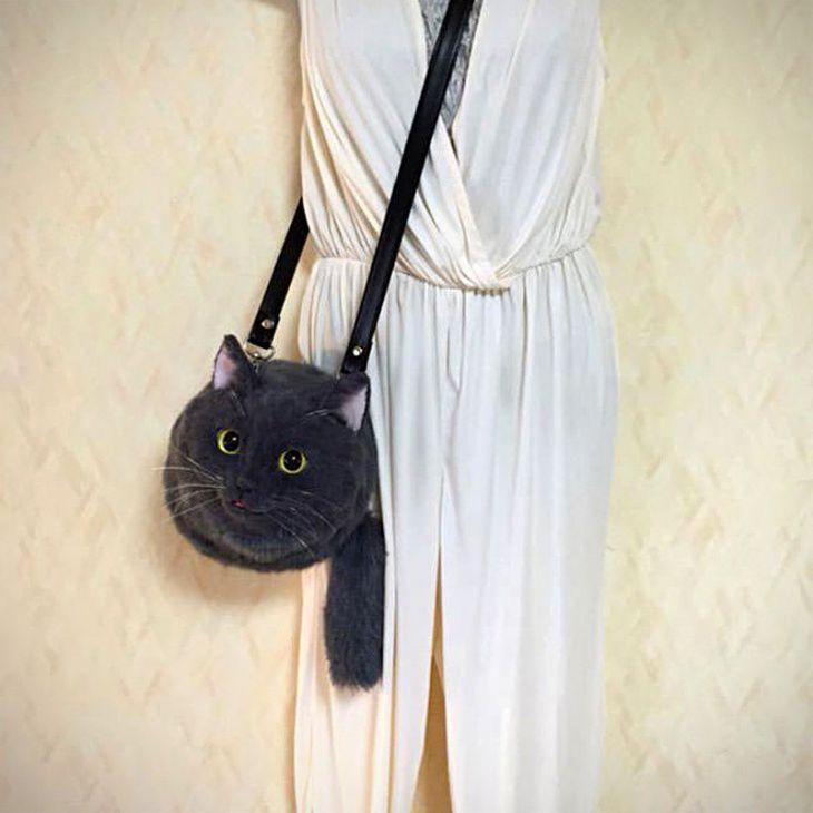 кот, необычные сумки