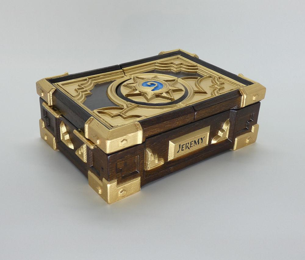 hearthstone box, резьба по дереву, hearthstone