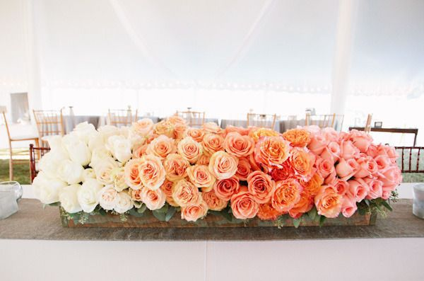 Ombre roses. Photography By / kaitiebryant.com, Floral Design By / theflowerpost.com