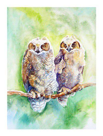 рисуем акварелью, по  влажному, натюрморт, рисуем птиц