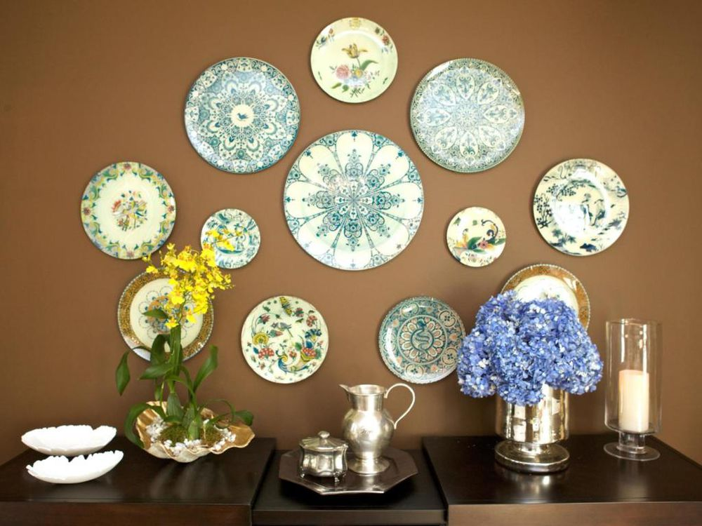 интерьерное украшение, тарелки, декорирование, винтажный стиль