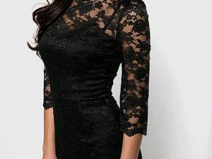 Аукцион! Черное платье из кружева | Ярмарка Мастеров - ручная работа, handmade