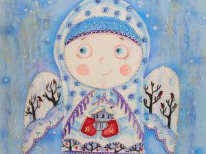 Зимний ангел. Доставка в подарок!. Ярмарка Мастеров - ручная работа, handmade.