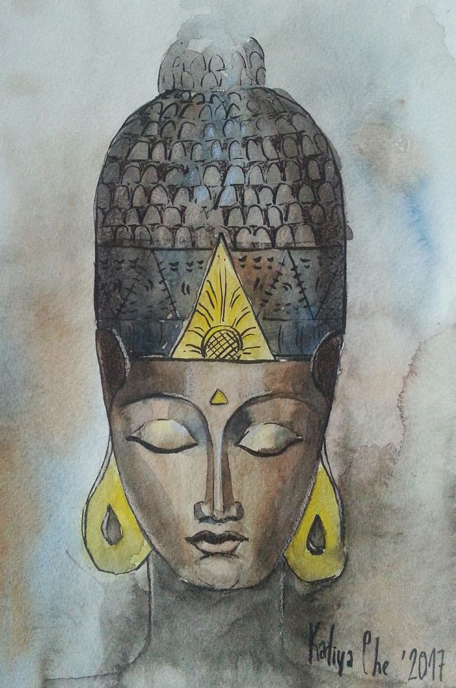 скетч, скетчинг, будда, зарисовки, буддизм