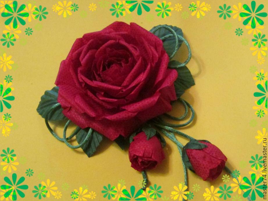 заколка для волос, роза из ткани, цветы из ткани обучение, видео мастер-класс, видео мастер класс, украшения, украшения с цветами