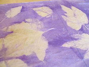 Медиумпринт или окрашивание с листьями зимой | Ярмарка Мастеров - ручная работа, handmade