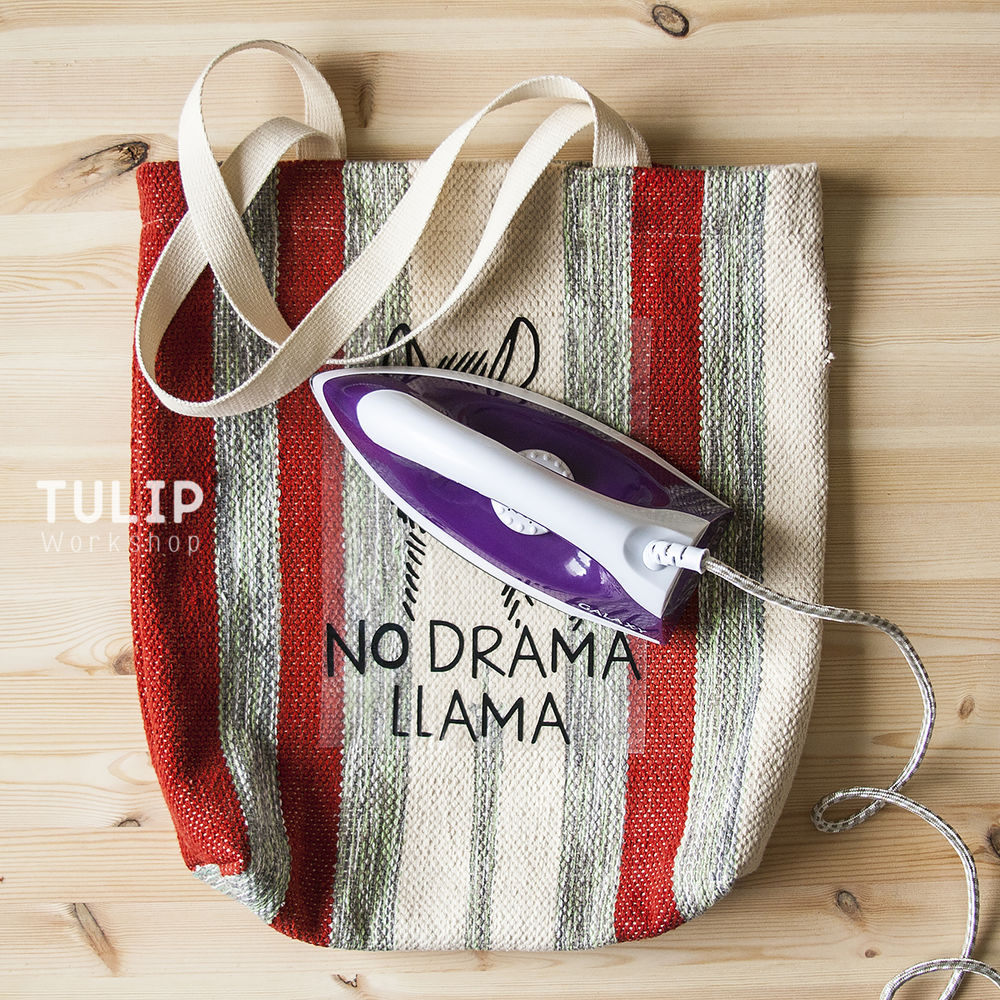 Шьем сумку-шоппер из домотканого коврика без выкройки, фото № 13