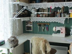Организация пространства в моей текстильной мастерской: место с сердцем. Ярмарка Мастеров - ручная работа, handmade.