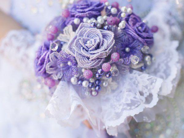 Создаем свадебный букет из бисера | Ярмарка Мастеров - ручная работа, handmade