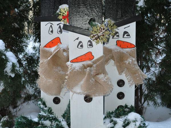 «Зимние друзья»: новогодний декор из подручных средств | Ярмарка Мастеров - ручная работа, handmade