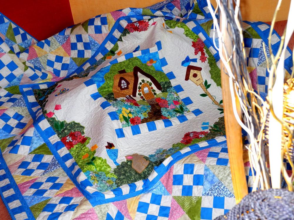 плед пэчворк, лоскутное одеяло