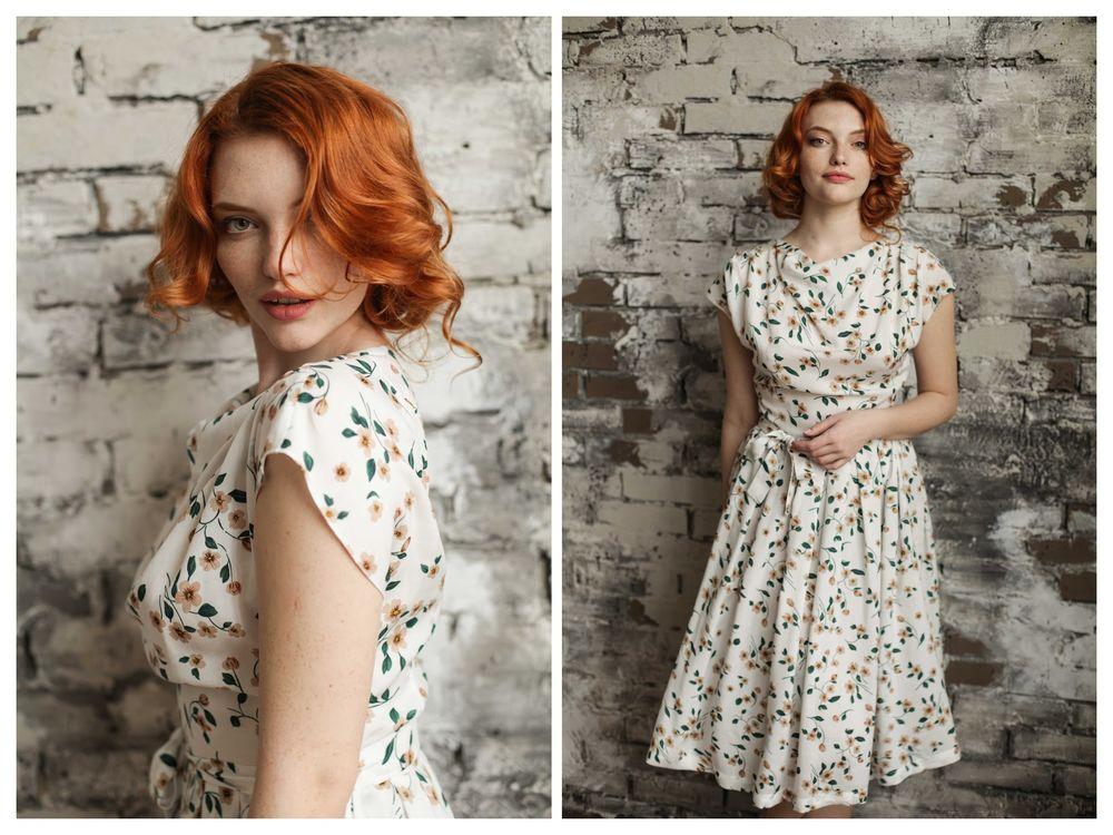 летняя мода, белое платье