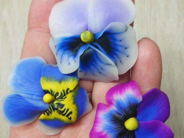Видеоурок: лепим из полимерной глины трости для цветов анютины глазки | Ярмарка Мастеров - ручная работа, handmade