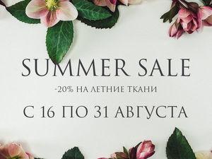Распродажа летних тканей!. Ярмарка Мастеров - ручная работа, handmade.