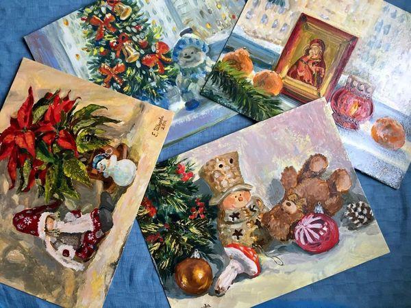Новые праздничные картины! Новый год и Рождество! | Ярмарка Мастеров - ручная работа, handmade