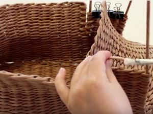 Видеоурок: мастерим корзинку-башмак из газетных трубочек. Часть 2. Ярмарка Мастеров - ручная работа, handmade.