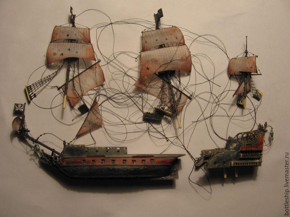 Корабль из денег и бутылки своими руками пошаговое 190
