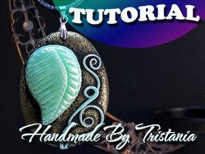 Видеоурок для начинающих: создаем простой кулон из полимерной глины. Ярмарка Мастеров - ручная работа, handmade.