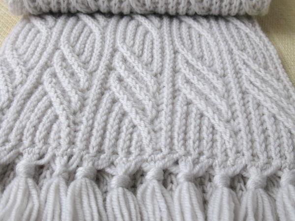 Похвалюшки про мой шарфик Светло-серый почти белый шарф Иней в ноябре. | Ярмарка Мастеров - ручная работа, handmade