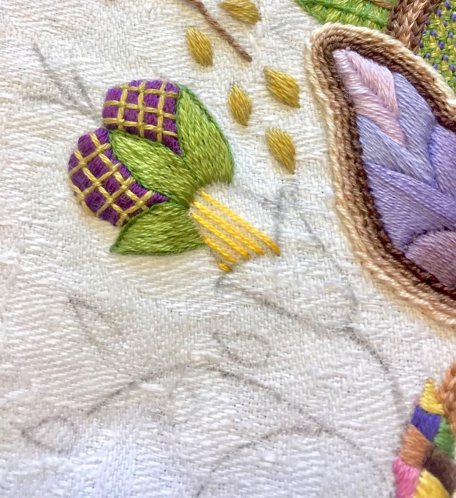 вышивка цветка