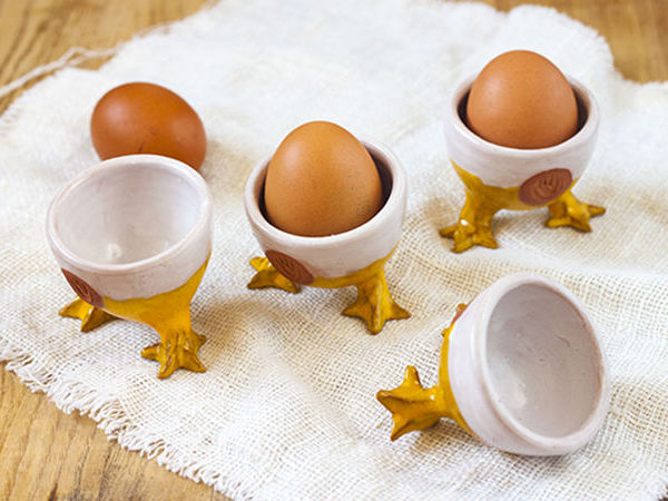 Creative Egg Stand out of Clay. Livemaster - handmade