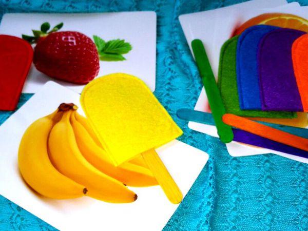 Дополнение к развивающей игре Цветное эскимо   Ярмарка Мастеров - ручная работа, handmade